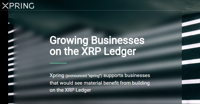 Xpring Website Screenshot