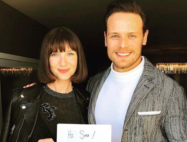 Sam Heughan, Caitriona Balfe 2018: Actor Invites Sassenach for a